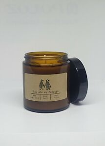 You are my Penguin 4oz Glass Jar Soy Candle Hand Poured YOU PICK SCENT