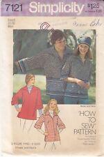 VTG '75 SIMPLICITY 7121 UNISEX BOHO SHIRT PATTERN SONNY & CHER COUPLE'S COSTUME