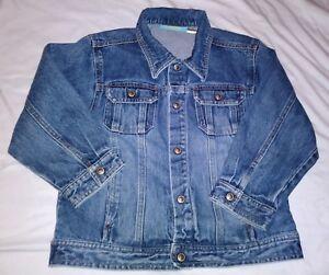 Gymboree Girls Size M Medium Wash Snap Button Blue Trucker Denim Jacket