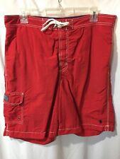Polo Ralph Lauren Men's Red Side Pocket Swim Trunks Shoets Size Sz Medium Med M