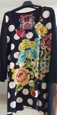 robe tunique desigual Large gros pois beige sur noir et couleur 100% coton Larg