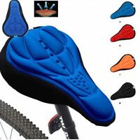 Cycling Bicycle Bike Seat Pad Saddle Cover Soft Cushion Sponge Silicone Case New