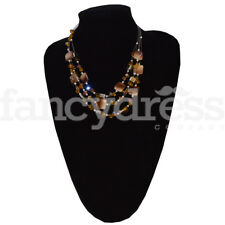 Brown Tiered Beaded Necklace Jewellery Secret Santa Present Gift NEW 42509
