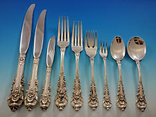 Sir Christopher by Wallace Sterling Silver Flatware Set 113 Pcs Dinner Size Huge