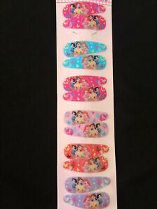 12pcs Disney Princess girls kids hair clips hair accessories + 2 free stickers
