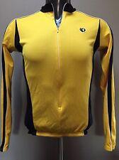 Pearl Izumi Yellow cycling jersey Medium M bicycle shirt long sleeve pullover