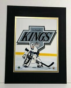 Los Angeles Kings Hockey 1995 Goalie MATTED 11X14 Lithograph by Kelly Russell