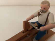 Erzgebirgische Volkskunst, sehr schöne Figur Spielzeugmacher, sehr guter Zustand