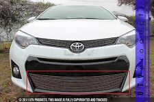 GTG 2014 - 2016 Toyota Corolla S 1PC Polished Overlay Bumper Billet Grille Grill