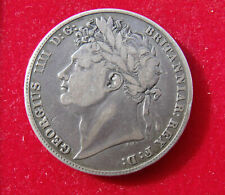 1821 Half crown Coin King George IIII .925 silver. British Coins