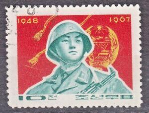 KOREA 1967 used SC#763 stamp, Korean People`s Army, 19thn Anniv.