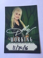 DOLLY PARTON PURE & SIMPLE WORLD TOUR CONCERT WORKING BACKSTAGE PASS NEW