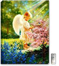 Glow Décor An Angel's Tenderness Illuminated Wall Art
