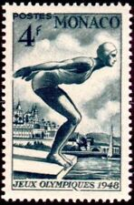 "MONACO STAMP TIMBRE N° 323 ""JEUX OLYMPIQUES LONDRES NATATION 4F "" NEUF x TB"