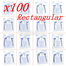 100x Dental Arch Wires Stainless Steel Rectangular Natural Form Wires AZDENT
