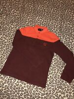 """Mens Fred Perry Jumper Raf Simons Rare Ls Polo 36 Ptp 19"""" 100% Cotton Must See"""