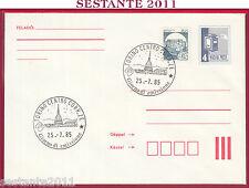 ITALIA FDC MAGYAR POST CASTELLI D'ITALIA CASTELLO SCILLA 1985 ANNUL. TORINO T483