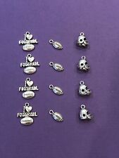Tibetan Silver Lot Football Charms 14 pieces for Crafts and Jewelry DIY
