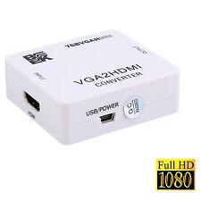 BK Mini VGA To HDMI HD 1080P HDTV Video Audio Converter Box Adapter For PC