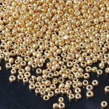 Free NEW 1200Pcs gold Czech Glass Seed Spacer Beads For Jewelry Making 2mm