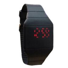 Mens Women Black LED Waterproof  Digital Watches  30g DZT