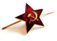 WW2 USSR Soviet metal badge red star lapel tie pin Russia army hat jacket CCCP