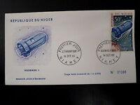 NIGER  AERIEN 64  PREMIER JOUR FDC     ESPACE VOSKHOD I     50F     1966