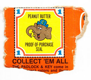 Quaker Oats Peanut Butter Crunch Cereal Purchase Seal From Cereal Box - 1970s