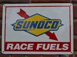 Sunoco Racing Fuel Gas Pump Sign Advertising Mechanic Garage Shop Free Shipping