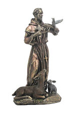 St. Francis of Assisi Statue Sculpture Figure GIFT BOXED  - WE SHIP WORLDWIDE