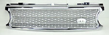 Range Rover 06-09 L322 Honeycomb Mesh Chrome & Silver Front Bumper Hood Grill