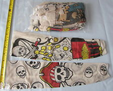 Pack of 12  Nylon Pirate Skull Tattoo Sleeves - Birthday Party Loot