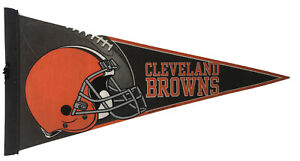 Cleveland Browns Pennant NFL Football Full Size 12x30 Flag RICO