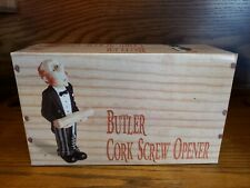 "NEW Vintage 9"" Butler Figure Cork Screw Holder - COLLECTIBLE"