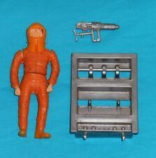 vintage SPACE:1999 Mattel Eagle Transport FIGURE WITH HELMET & WEAPON & RACK lot