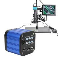 4k HDMI USB Dual Output Digital Electric Industrial Microscope Camera EU/US Plug