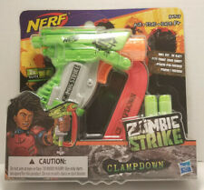 Brand New - Nerf Zombie Strike Clampdown Blaster With 2 Zombie Strike Darts