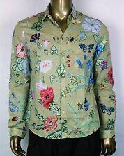 $495 New Authentic Gucci Men's Beige Khaki Flora Printed Shirt 41/16 352997 2858