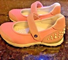Girls Pink  Shoes Leather Mary Janes /White Beads  Naturino  NIB Girls Size 10