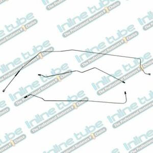 """2000-2005 Buick Century Rear Drum w/ABS 3/16"""" Rear Axle Brake Line Set Stainless"""