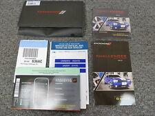 2012 Dodge Challenger Coupe Owner Owner's Manual User Guide SXT R/T SRT8 392