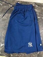 Vintage Majestic New York Yankees Basketball Shorts Navy 2X XXL Jeter Rodriguez