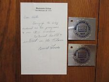 JOSEPH FUSCO Signed Letter/Note-w/2 Decals-1980 Westminster Coll. Football Coach