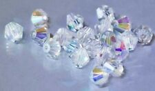 65 AAA 8mm clear AB Bicone Crystal Beads Vacuum Pack protected 'Luvit'