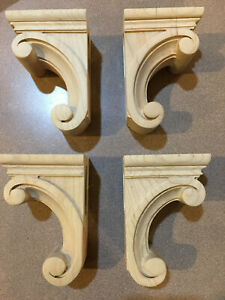 New Maple Corbels - 4 unfinished - Designs of Distinction style Madeline