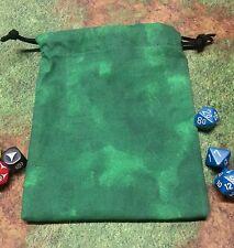 Green Marbled dice bag, card bag, makeup bag
