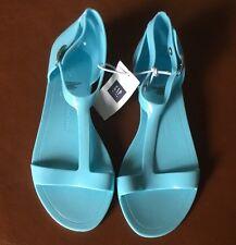 Gap Kids Girl's Light Blue Jelly Sandal Shoe Size 12 NWT
