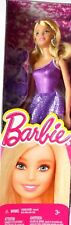 BARBIE DOLL - SPARKLE & SHINE PURPLE PARTY DRESS MATTEL BCN33