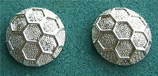 Textured Silver Tone Clip Earrings - Costume Jewelry - Vintage