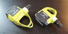LOOK Arc F road bicycle cleat pedals YELLOW very rare VGC fixie fixed ss pedal